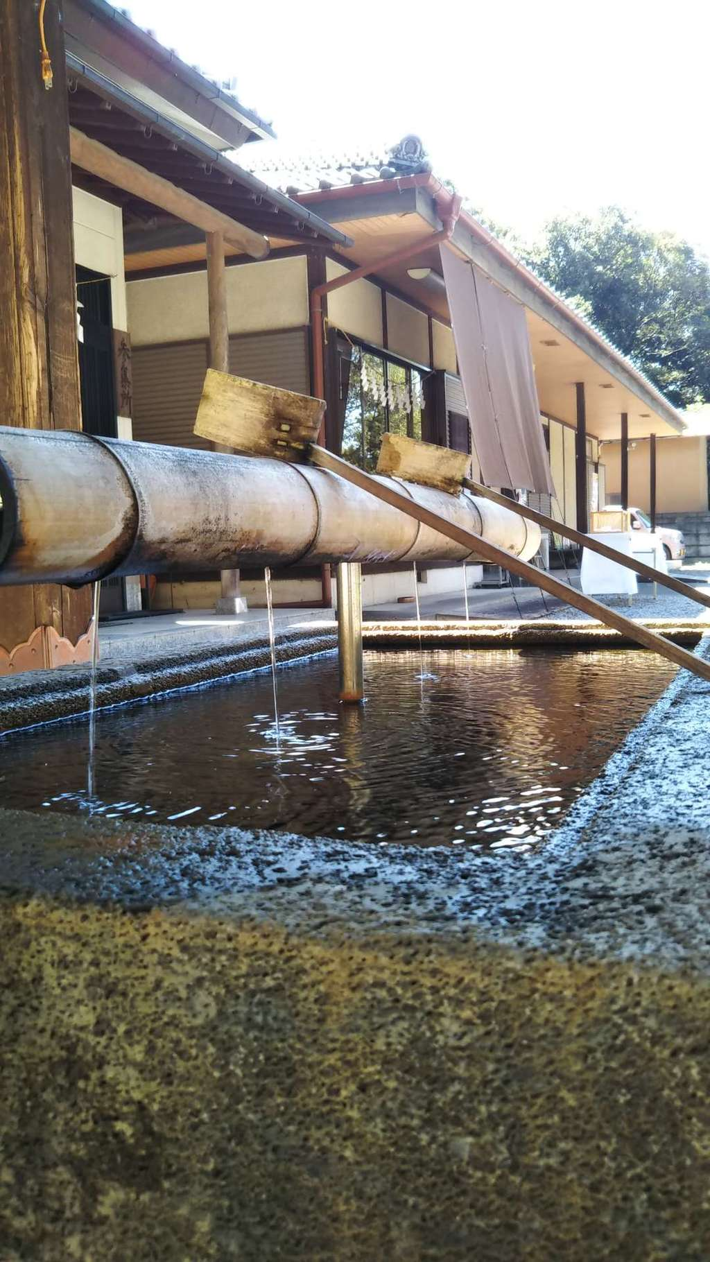 玉敷神社の手水