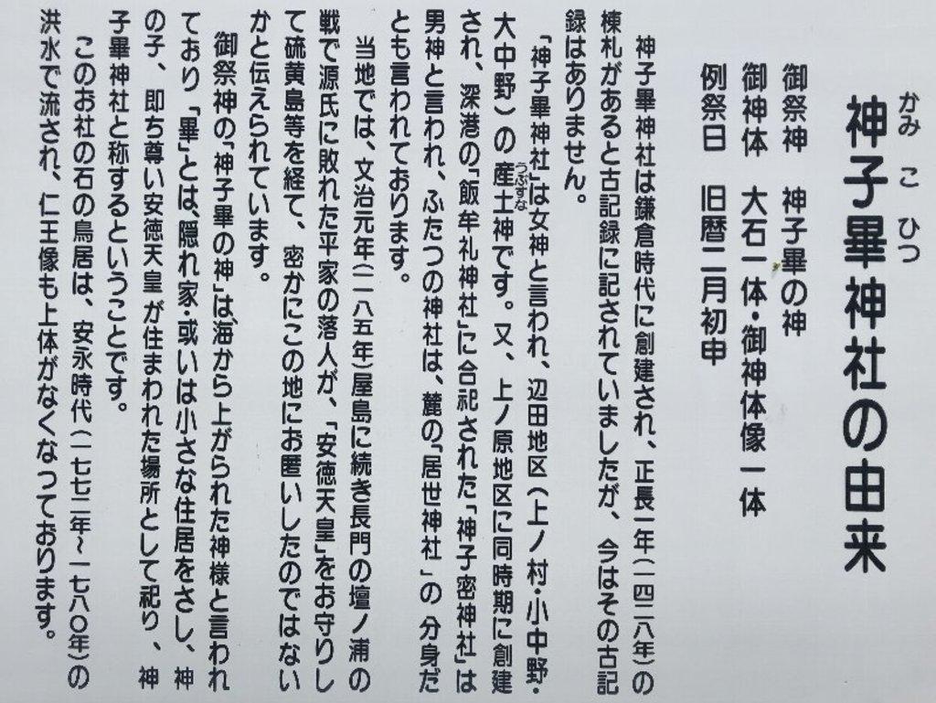 神子畢神社の歴史
