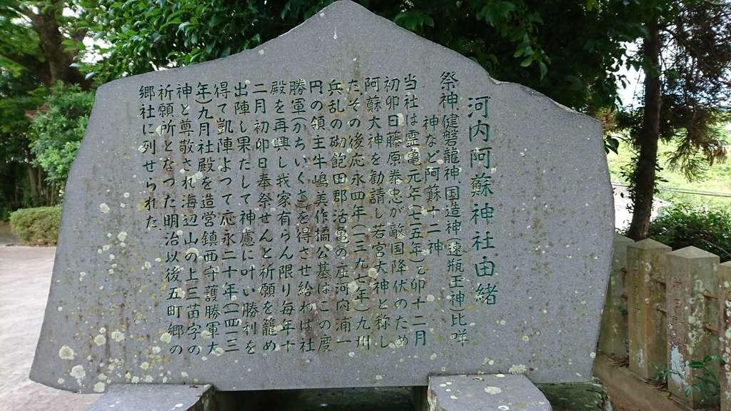 河内阿蘇神社の歴史
