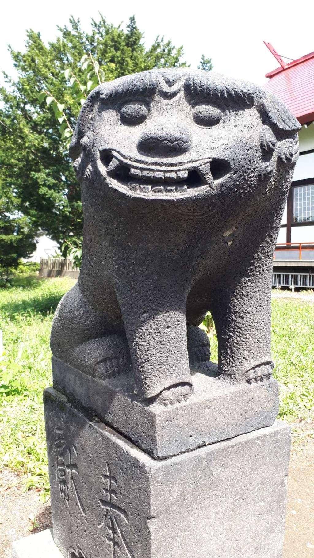 江部乙神社の狛犬