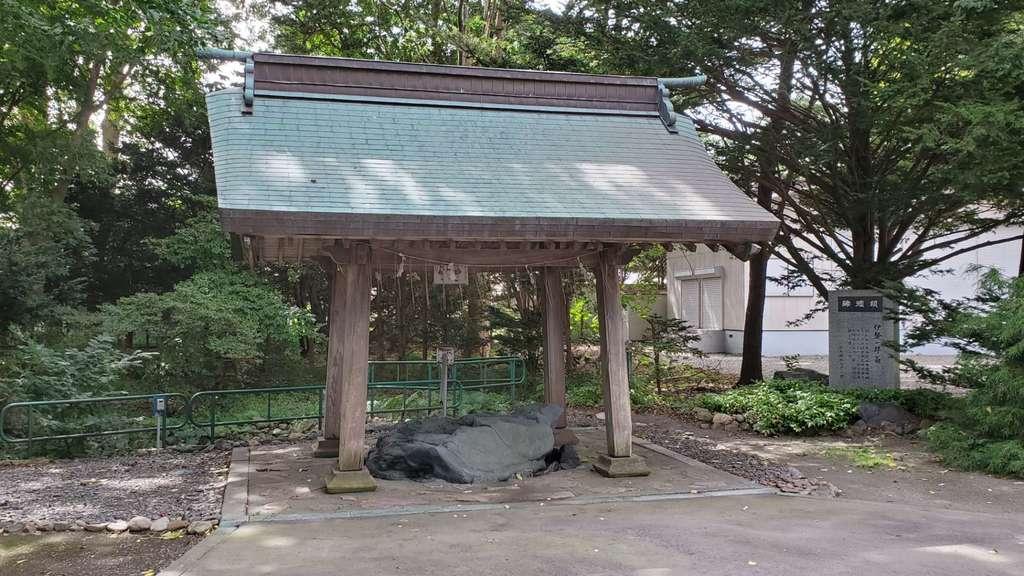 靜内神社の手水