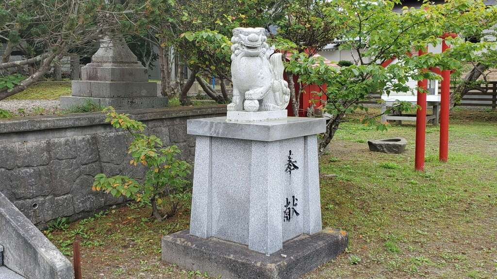 霧多布神社の狛犬