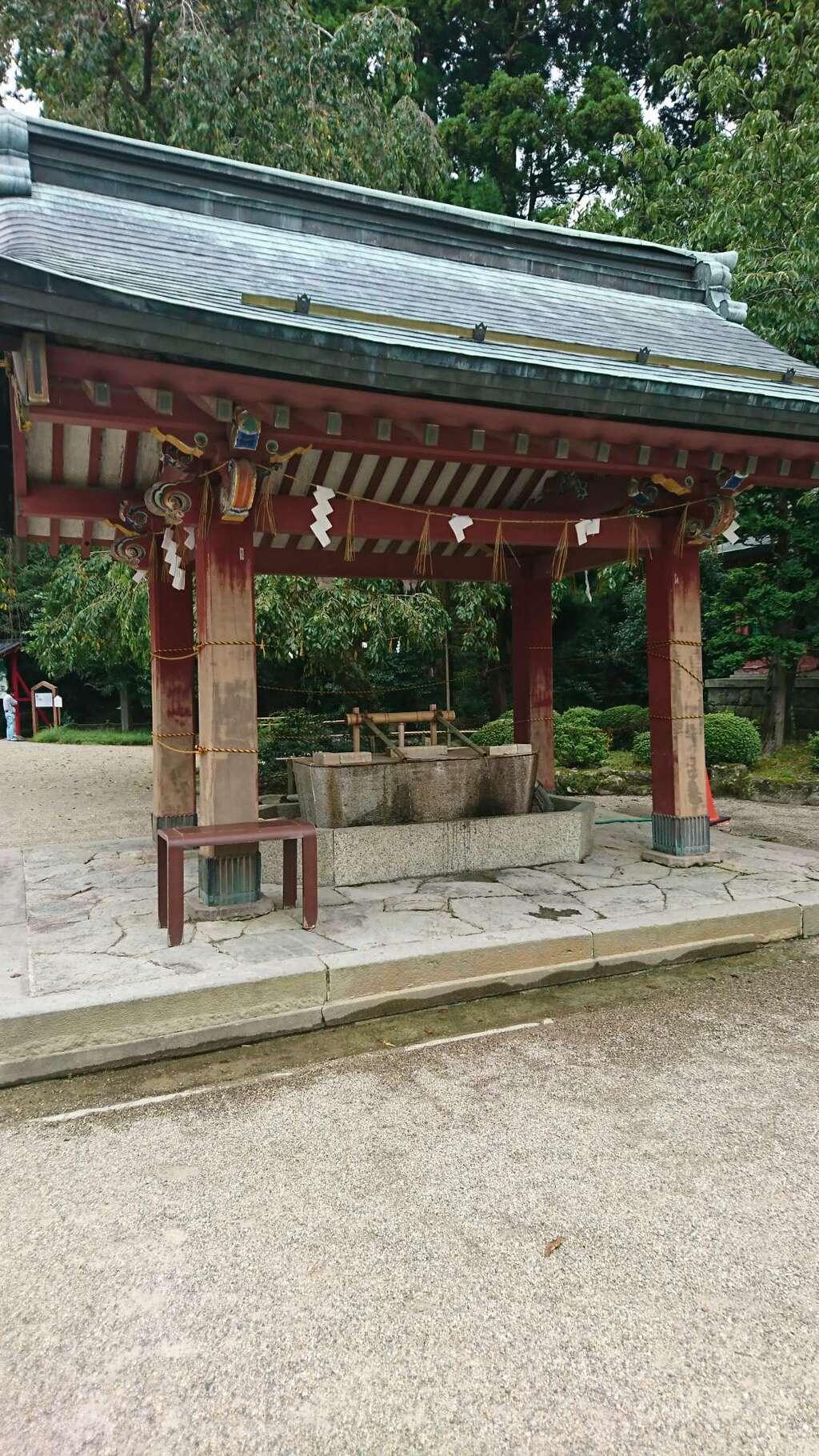 志波彦神社・鹽竈神社の手水