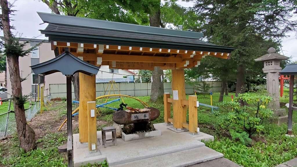 帯広三吉神社の手水