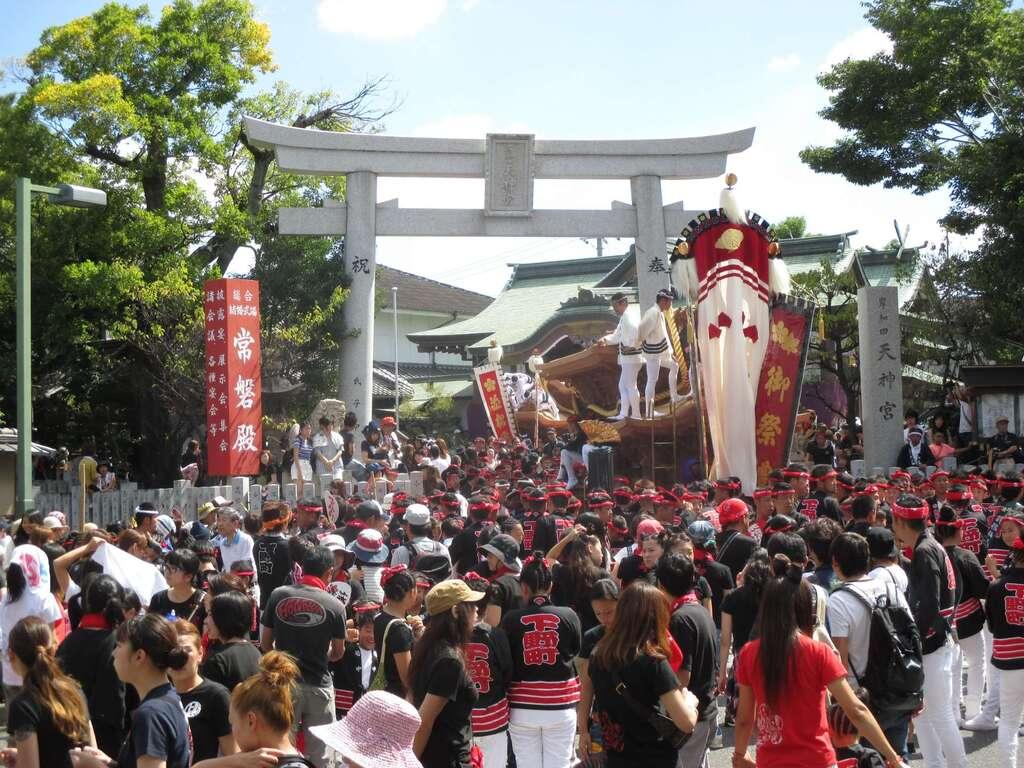 岸和田天神宮のお祭り