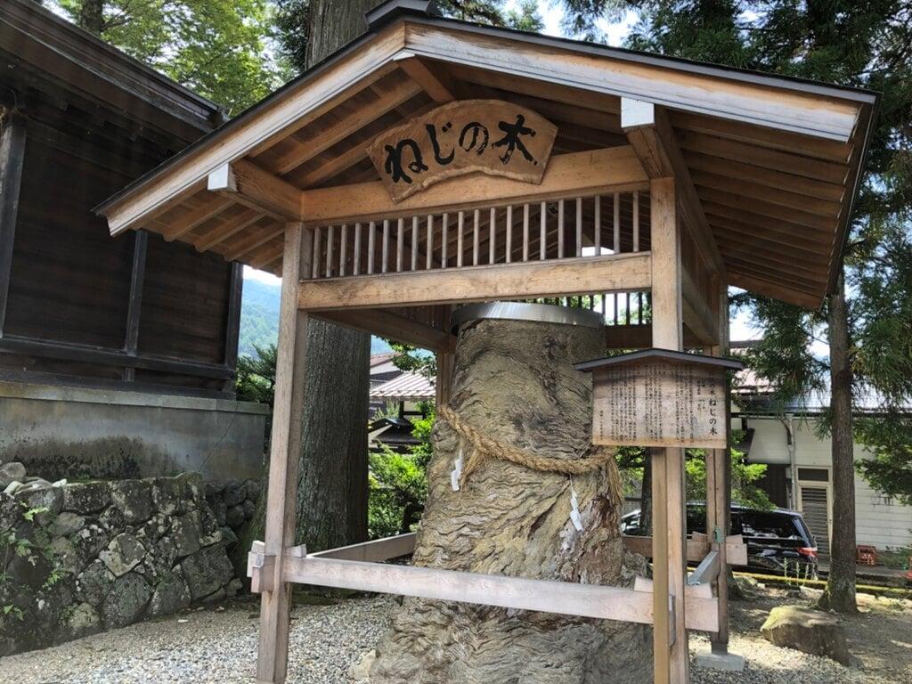 飛騨一宮水無神社の自然