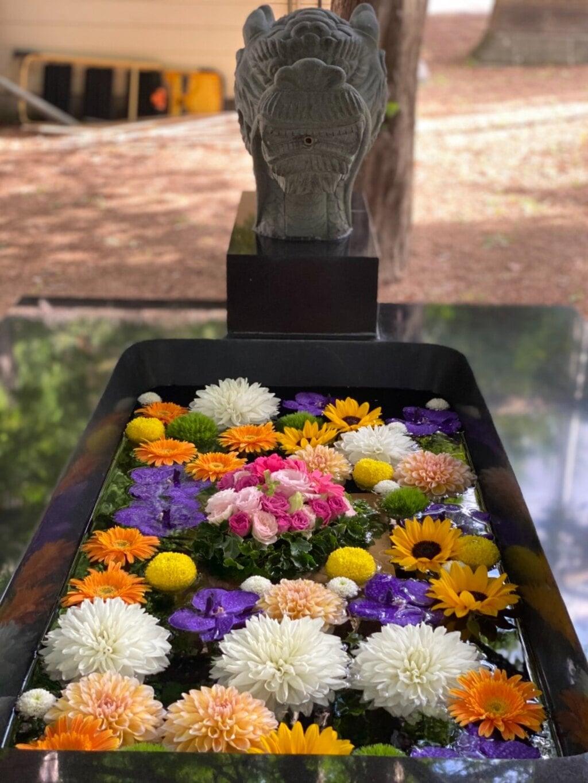 大谷地神社の手水