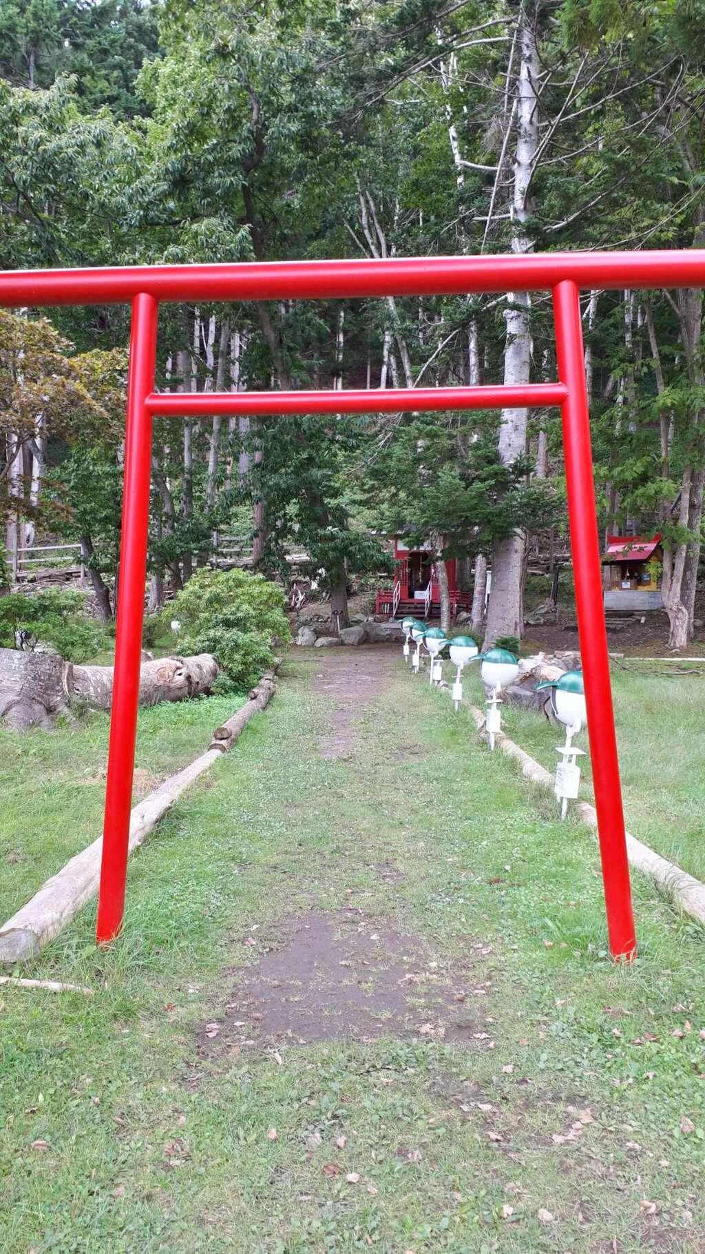 神社(洞爺湖中の島)の鳥居