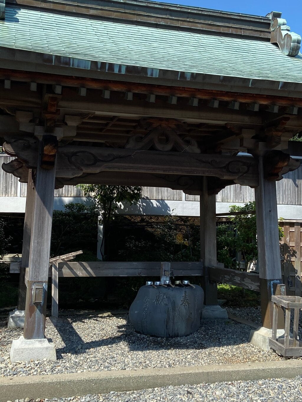 種間寺の手水