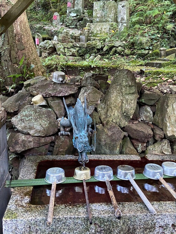 青龍寺の手水