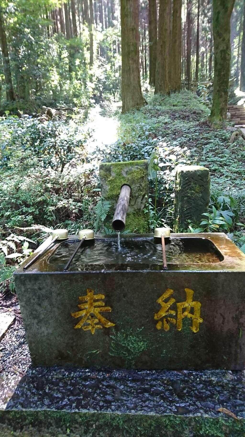 上色見熊野座神社の手水