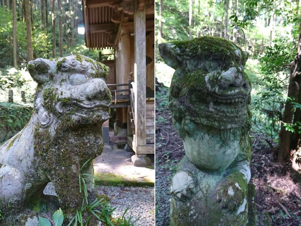 上色見熊野座神社の狛犬