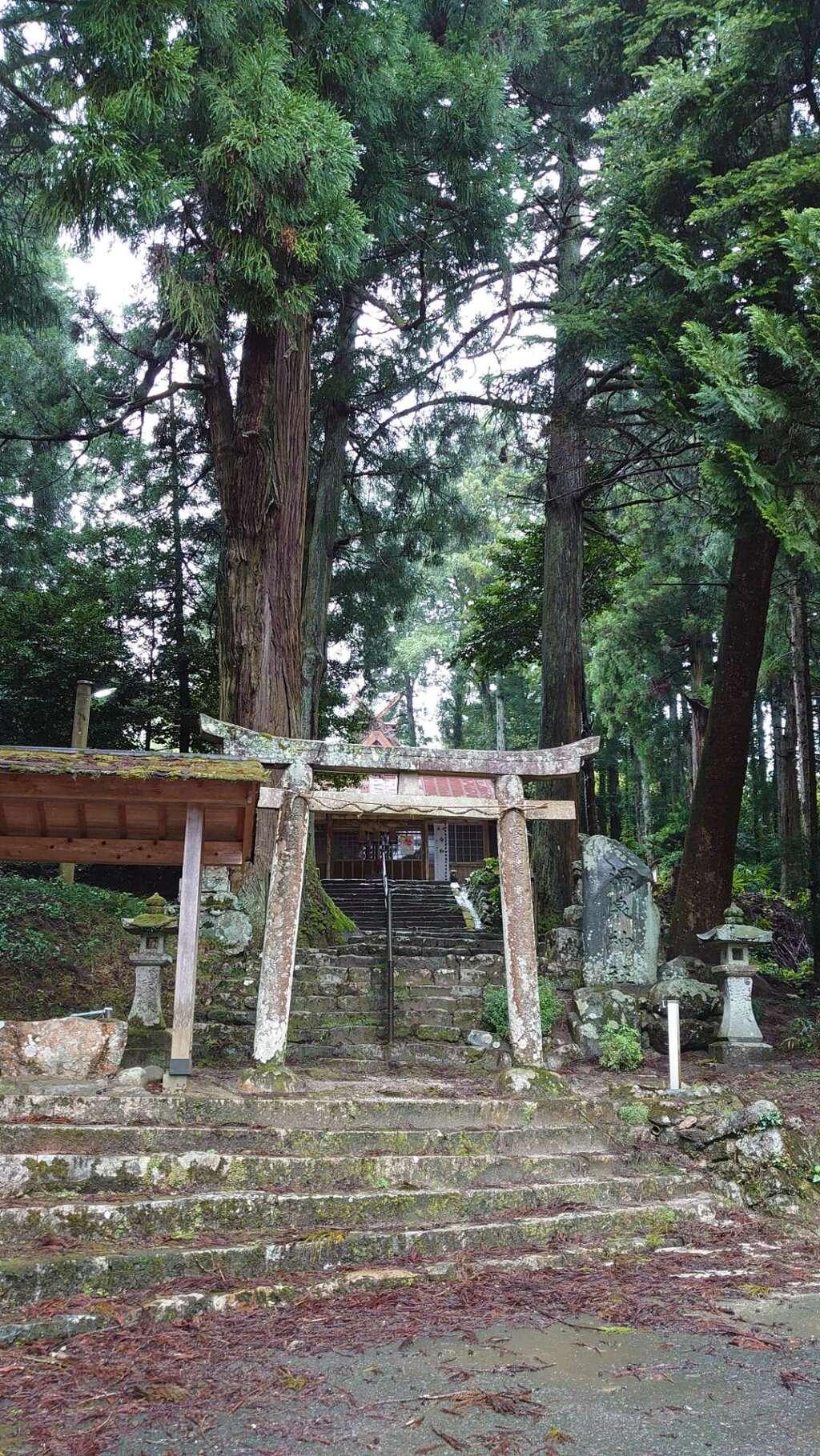 温泉神社の鳥居