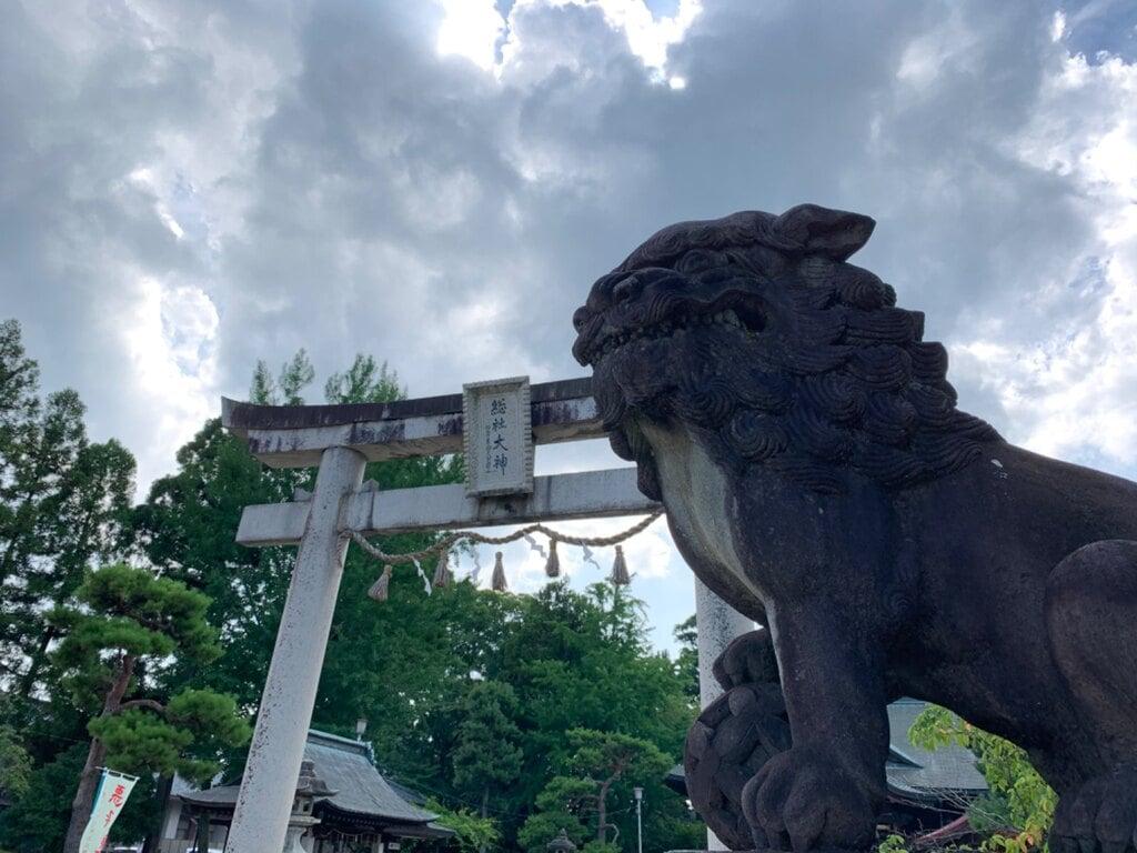 総社大神宮の狛犬