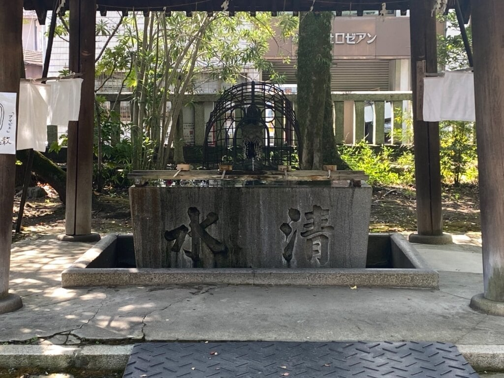 若宮神明社の手水