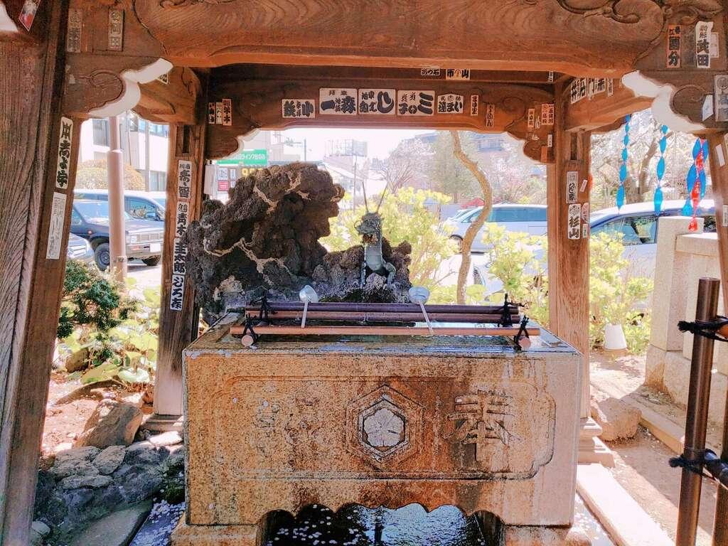 白山神社の手水