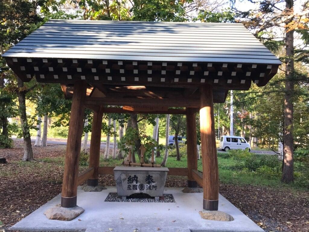 赤井川神社の手水