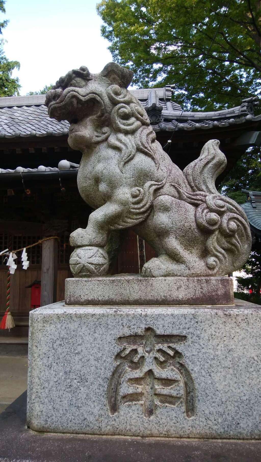 仙波氷川神社の狛犬