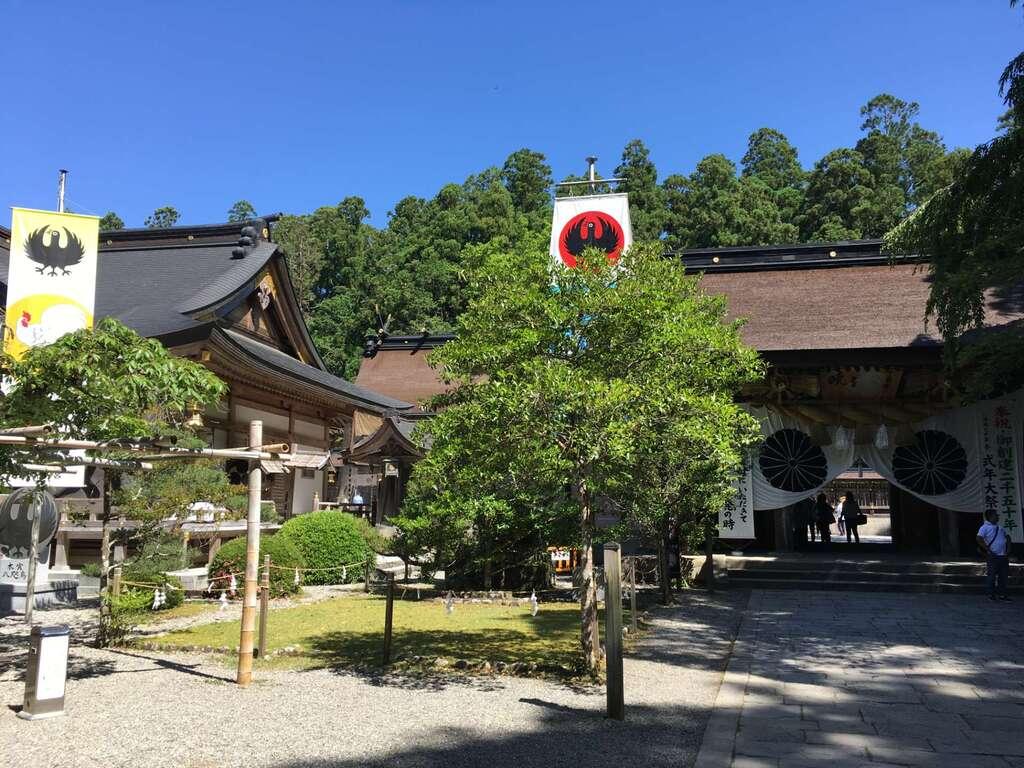 熊野本宮大社の庭園