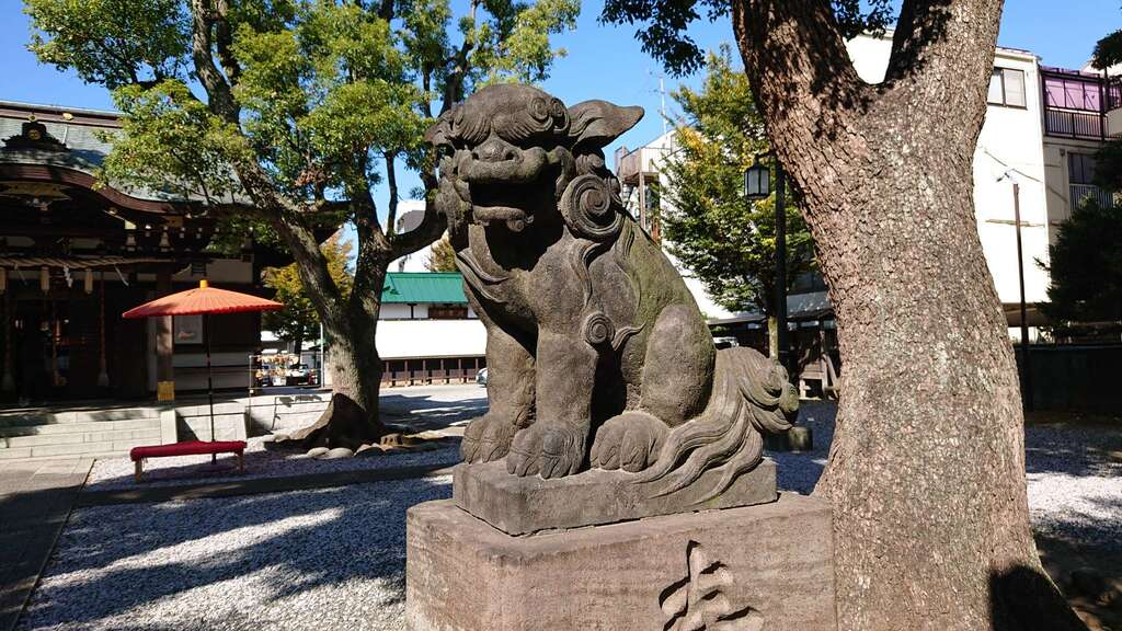 橘樹神社の狛犬