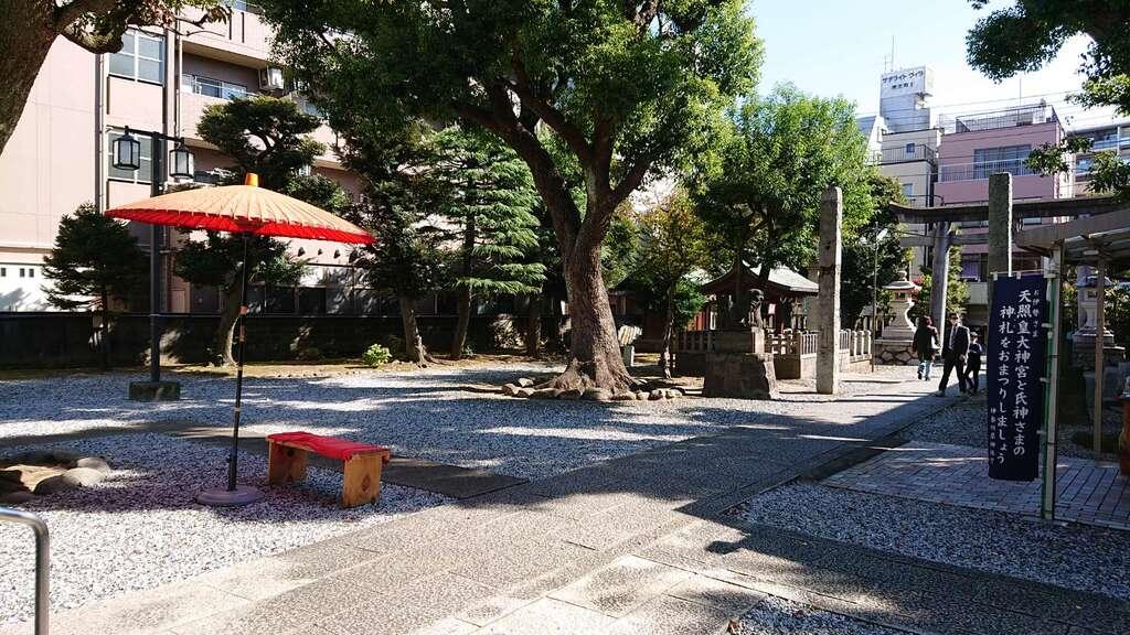 橘樹神社の庭園