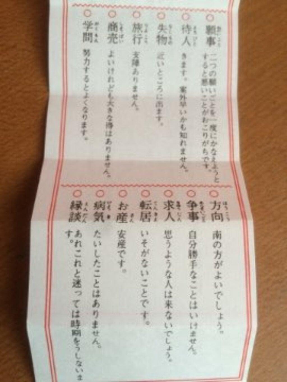 露天神社(お初天神)のおみくじ