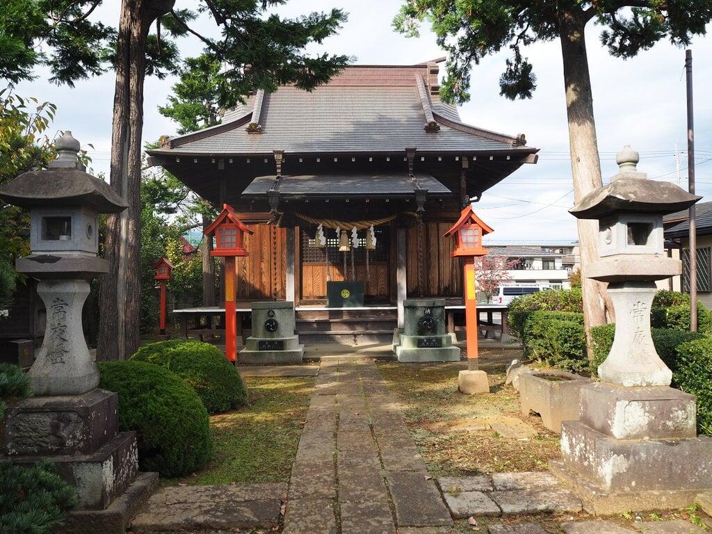北草加氷川神社の山門