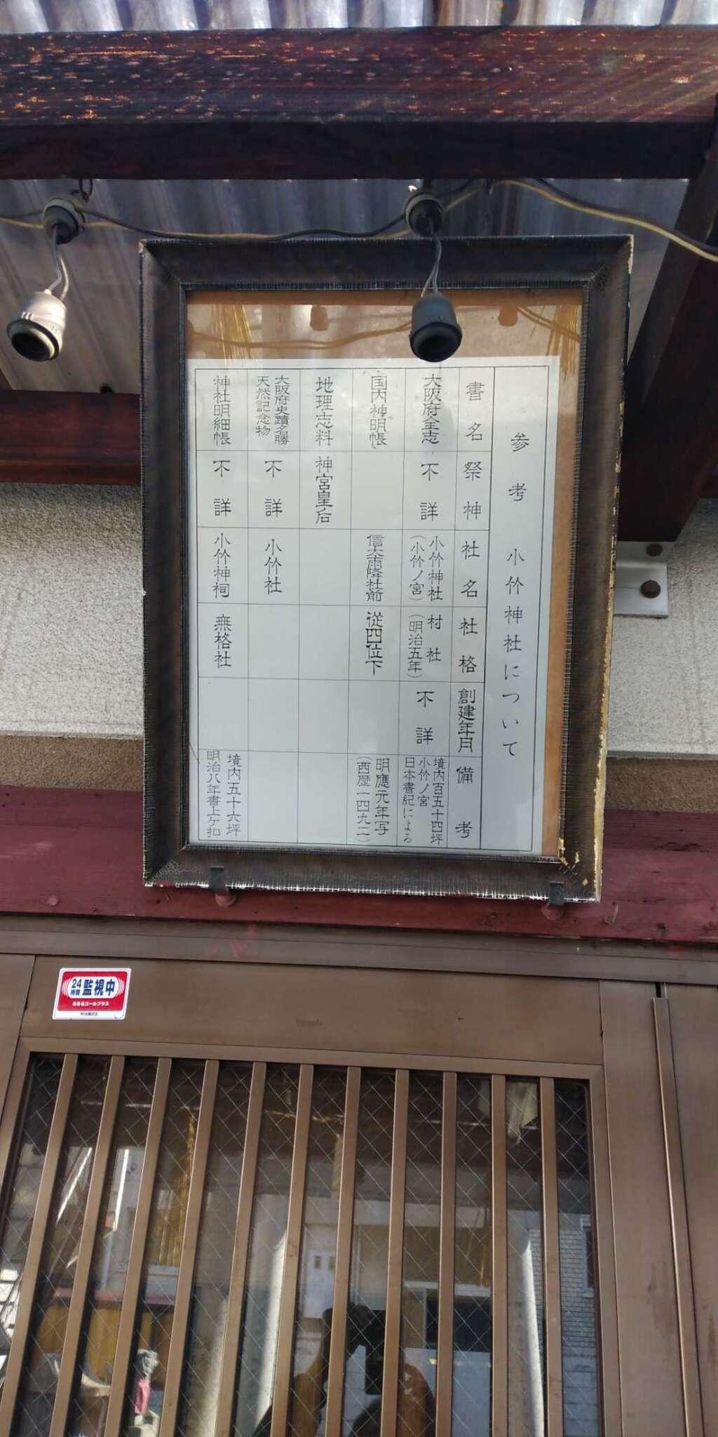 小竹神社の歴史