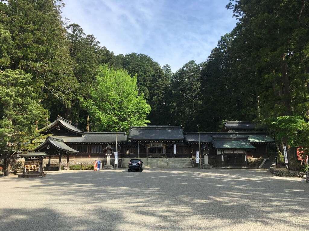 飛騨一宮水無神社の景色