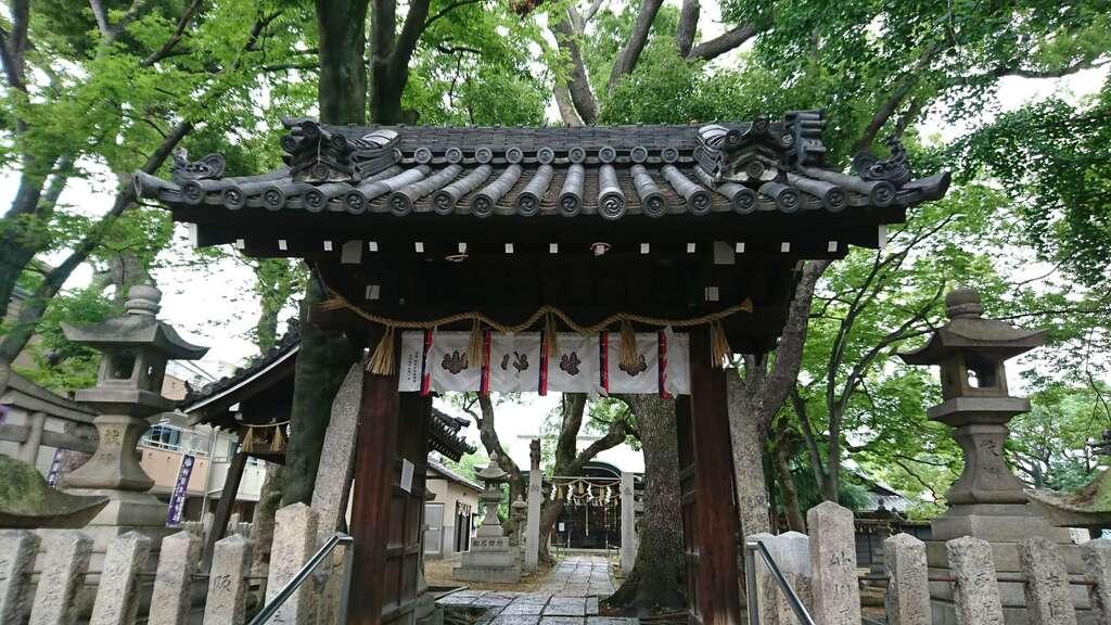 神須牟地神社の山門