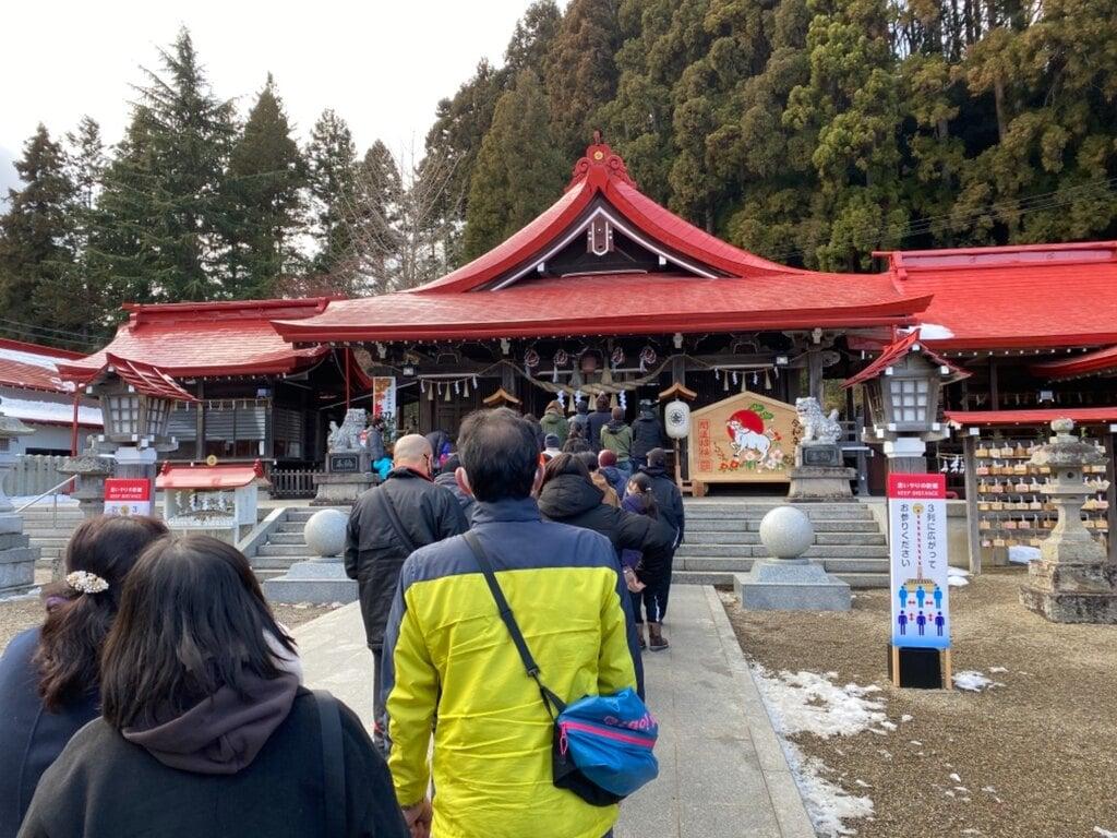 金蛇水神社の初詣