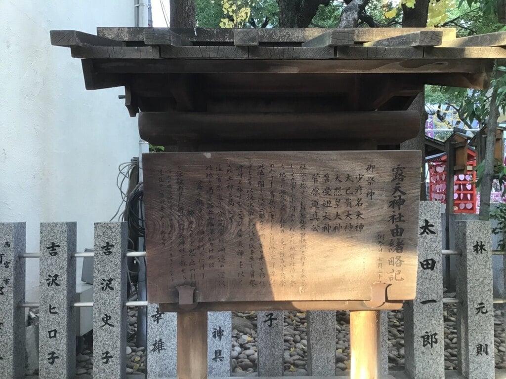露天神社(お初天神)の歴史