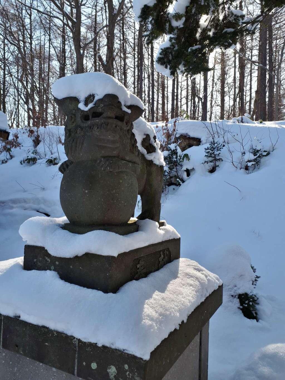 上野幌神社の狛犬