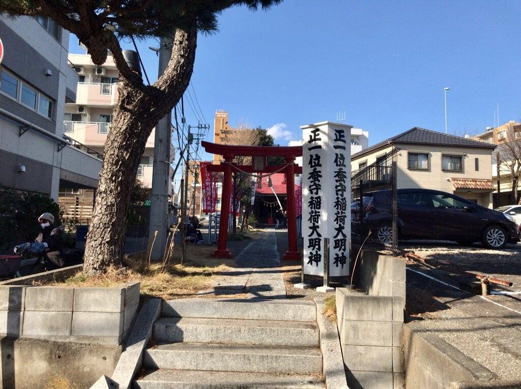 谷口山野稲荷神社の鳥居