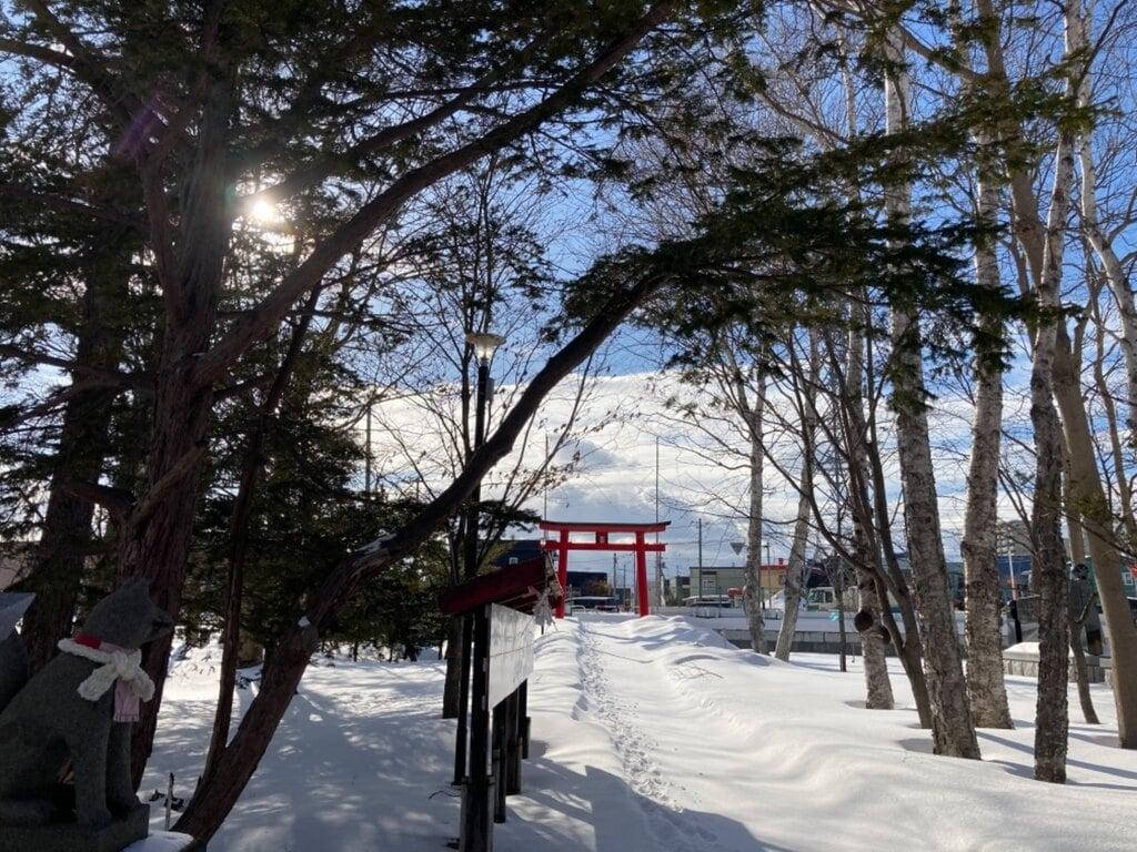 山本稲荷神社の鳥居