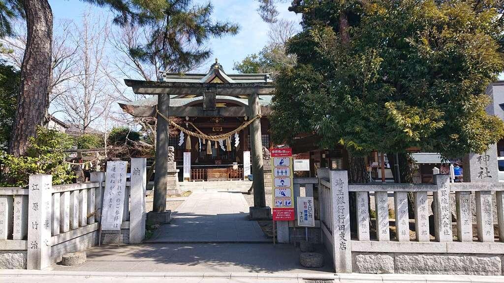 行田八幡神社の鳥居