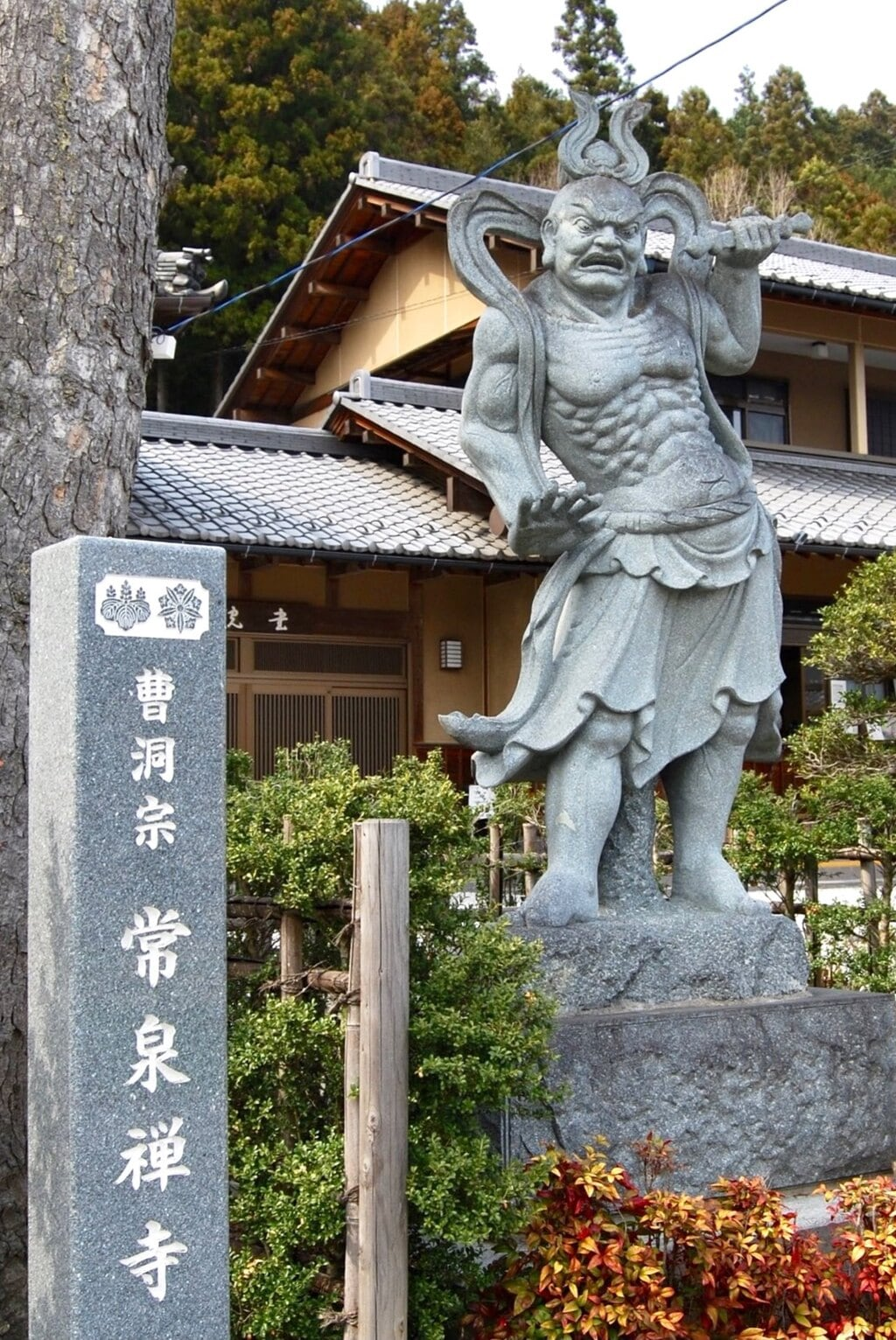 常泉寺の像