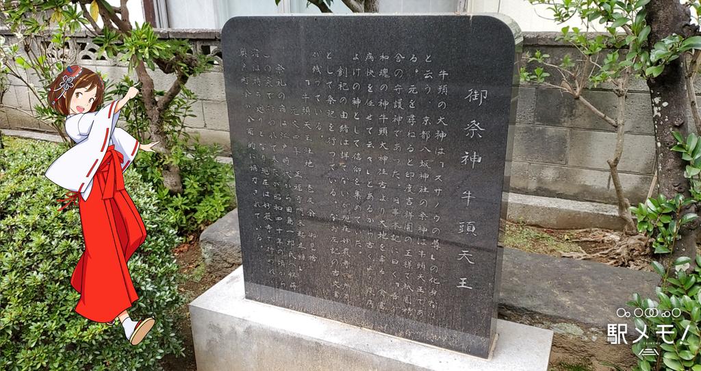 牛頭天王社の歴史