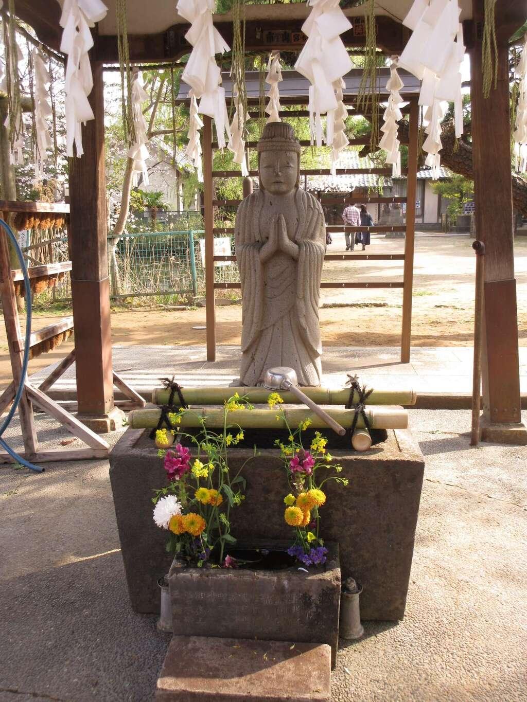 手児奈霊神堂の手水
