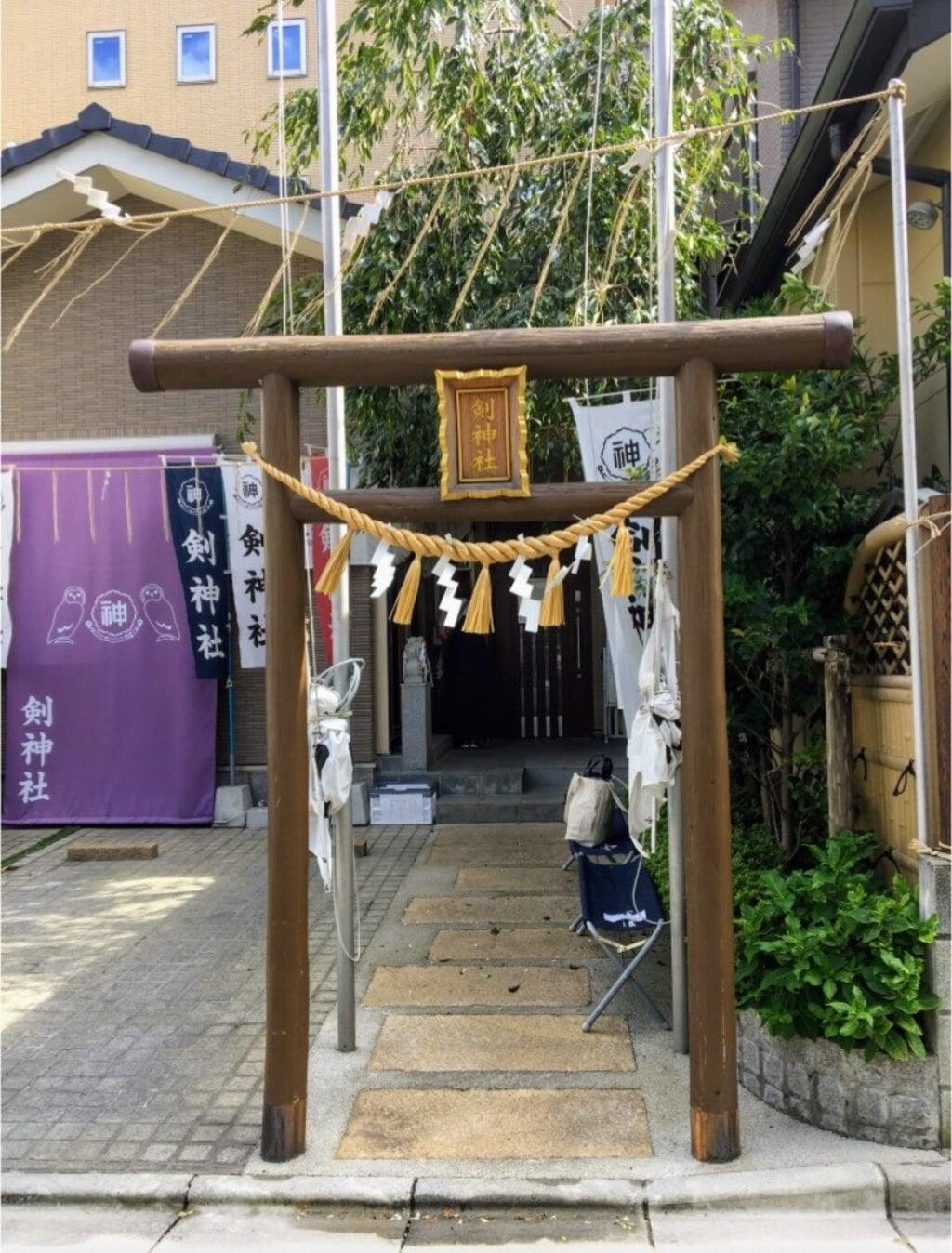 剣神社の鳥居