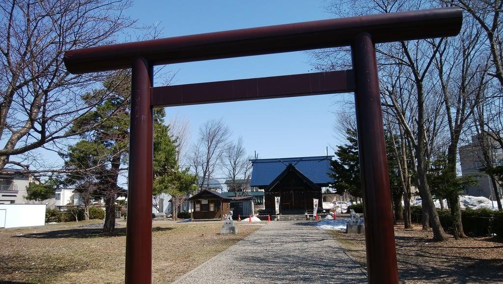 神居神社遥拝所の鳥居