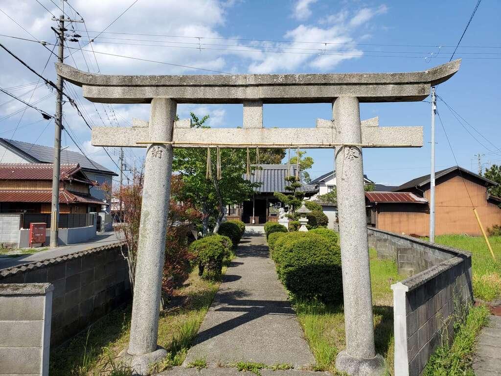 川北住吉神社の鳥居