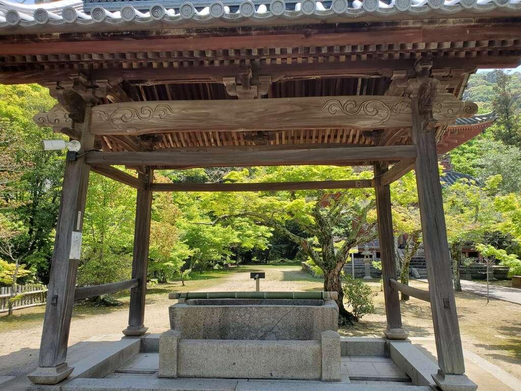 太山寺の手水