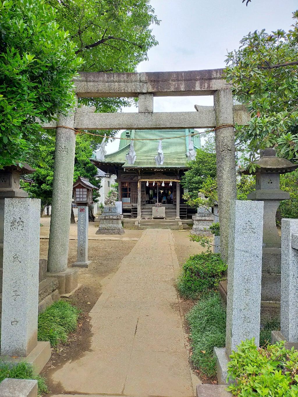 野火止氷川神社の鳥居