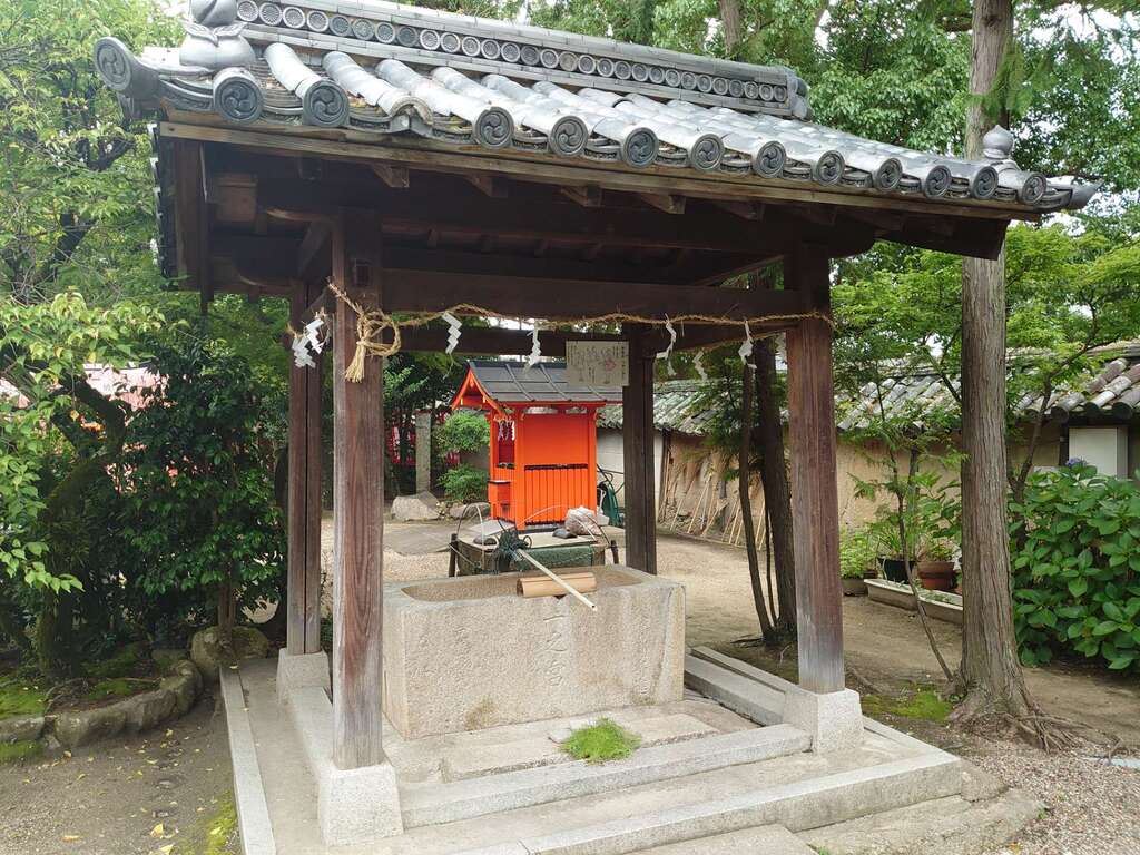 片埜神社の手水